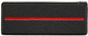 Thin Red Line Patch for Firefighters