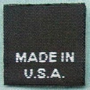 100 PCS BLACK WOVEN CLOTHING LABELS, CARE LABEL - MADE IN USA