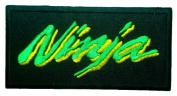 NINJA Kawasaki Motorcycles Superbike Racing Green Label BN01 Patches