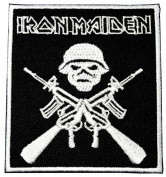 iron maiden patches 6.5x7.5 cm Music Band patch Embroidered Iron on Patch