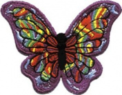 5.1cm Colourful Purple Orange Psychedelic Butterfly Animal Patch