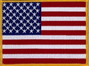 "USA (Stars and Stripes) Large Embroidered Patch 13cm x 10cm (approx) 5"" x 4"""