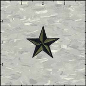 3.8cm Nautical Tattoo 3D Star Embroidered Iron On Applique Patch FD - Army Green