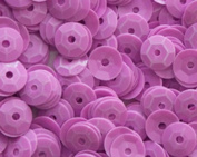 5mm CUP SEQUINS Neon Pink Loose sequins for embroidery, applique, arts, crafts, and embellishment.
