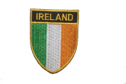 Ireland Country Flag OVAL SHIELD Embroidered Iron on Patch Crest Badge 5.1cm X 6.4cm .. New