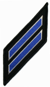 ML006 Blue Service Stripes Rank Insignia UNK Patch Lot of 2