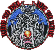 Ride to die Die To Ride Embroidered iron on Motorcycle Biker Applique Patch