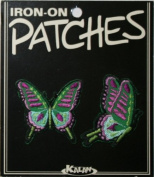 Pair of Butterflies Carded Iron On Patch