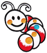 Caterpillar Worm for Kids Children Baby Clothing Sew-on Iron-on Patches Embroidered Applique