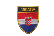 Croatia Hrvatska Country Flag OVAL SHIELD Embroidered Iron on Patch Crest Badge 5.1cm X 6.4cm .. New