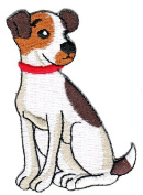 Dog Jack Russell Terrier Sew-on Iron-on Patches Embroidered Applique