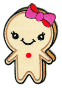 Gingerbread Woman Sew-on Iron-on Patches for Kids Children Baby Clothing Embroidered Applique