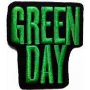 Green Day Patches 8x9 cm Music Band patches Embroidered iron/sew on Patch to Cloth, Jacket, Jean, Cap, T-shirt and Etc.