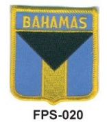 5.1cm - 1.3cm X 2-3/4 Flag Embroidered Shield Patch Bahamas