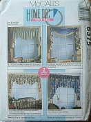 McCall's 8375 Home Dec Pattern 4 Designs for Window Treatments