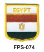 5.1cm - 1.3cm X 2-3/4 Flag Embroidered Shield Patch Egypt