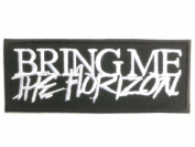 """BRING ME THE HORIZON Logo Deathcore Metal Patch 4""""/10.2cm x 1.5""""/4cm By MNC Shop"""
