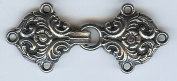 Bjorg Pewter Cloak/Cape Clasp - 6.4cm Long x 2.5cm Tall
