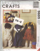 McCall's 9605 Crafts Sewing Pattern Quiet Time for Toddlers Dolls