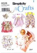 Simplicity 8528 Crafts Sewing Pattern Wardrobe for Baby Dolls Clothing