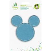 Disney Mickey Mouse Mickey Blue Silhouette Iron-On Applique-