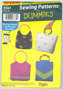 Simplicity 5567 Craft Pattern for Dummies 4 Bags Purses