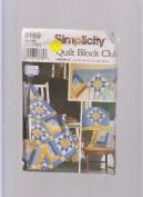 Simplicity Quilt Block Club 9169 ; #1 Variable Star & Log Cabin Blocks