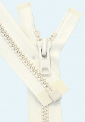 90cm Vislon Zipper ~ YKK #10 Moulded Extra-Heavy Separating - 841 Snow White