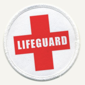 LIFEGUARD Cross Red Pool Safety Alert 7.6cm Sew-on Patch
