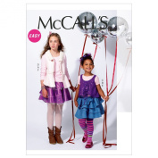 McCall's Patterns M6640 Children's/Girls' Vests/Tops and Skirts Sewing Template, Size CCE