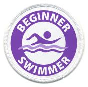 Purple BEGINNER SWIMMER Pool Safety Alert 7.6cm Sew-on Patch