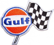 Gulf Racing Team Oils Race Symbol t Shirt GG02 Iron on Patches