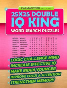 25x25 Double IQ King Word Search Puzzles