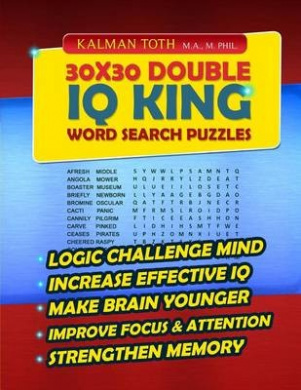 30x30 Double IQ King Word Search Puzzles
