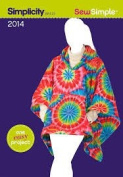 Simplicity SewSimple 2014, Misses' Fleece Poncho in One Size