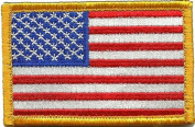 Tactical USA Flag Patch - Red White & Blue