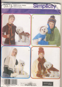 Simplicity 3975 Pattern Misses and Dog Accessories Size S,M,L Dog XS,S,M