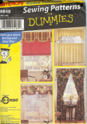 Simplicity Sewing Pattern 9848 - Use to Make - Window Treatments - 4 Styles - Sewing Patterns for Dummies