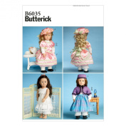 Butterick Patterns B6035OSZ Clothes for 46cm Doll Sewing Template, One Size Only