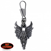 Hot Leathers Angel Rider Zipper Pull
