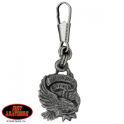 Hot Leathers Live To Ride Zipper Pull