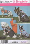 Simplicity Pattern #4274 - Dog Clothes in Two Sizes