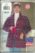 Sewe & Sew 3617 Sewing Pattern Misses Easy Jacket Sizr XS-M 6-14