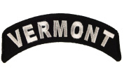 Vermont State Rocker Iron or Sew on Embroidered Shoulder Patch D37