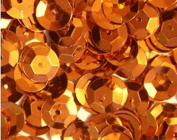 5mm CUP SEQUINS ~ ORANGE Metallic ~ Loose paillette sequins for embroidery, applique, arts, crafts, bridal wear and embellishment. Made in USA