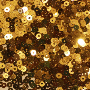 3mm FLAT SEQUINS Gold Loose sequins for embroidery, applique, arts, crafts, and embellishment.