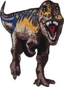 Purple & Brown T- Rex Dinosaur Embroidered Patch