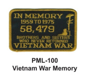 10cm Embroidered Millitary Large Patch Vietnam War Memory