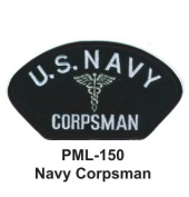 10cm Embroidered Millitary Large Patch Navy Corpsman