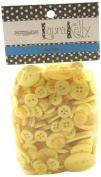 Buttons Galore Hand Dyed Buttons, 160ml, Sunshine Yellow